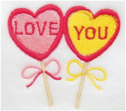 Love You Hearts embroidery design