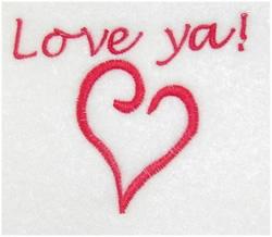 Love Ya! embroidery design