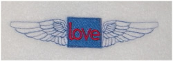 Love WIngs embroidery design