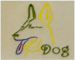 Year Of The Dog embroidery design
