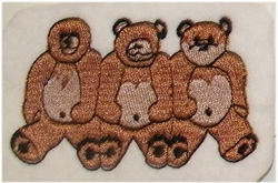 Do No Evil Teddies embroidery design