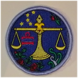 Libra embroidery design