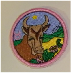 Taurus embroidery design