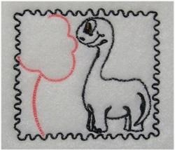Dino Stamp embroidery design