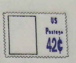 42 Cents Stamp embroidery design
