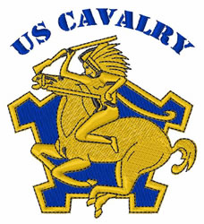 US Ninth Cavalry Insignia embroidery design