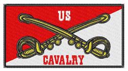 US Cavalry Insignia embroidery design