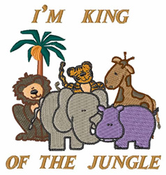 King Of The Jungle embroidery design