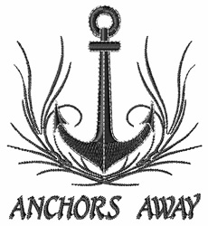 Anchor s Away embroidery design