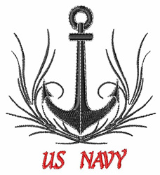 US Navy embroidery design