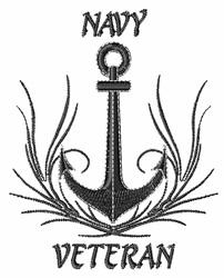 Navy Veteran embroidery design