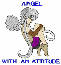 Angel With Attitude embroidery design