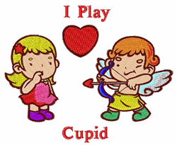 I Play Cupid embroidery design