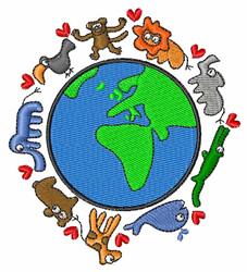 Animals World embroidery design