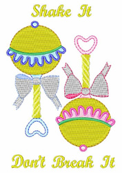 Shake It embroidery design