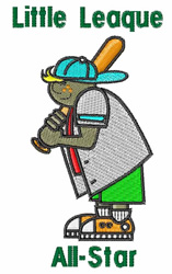Little League embroidery design
