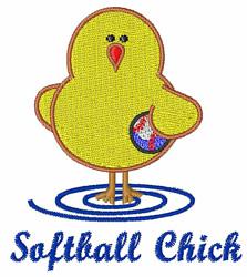 Softball Chick embroidery design