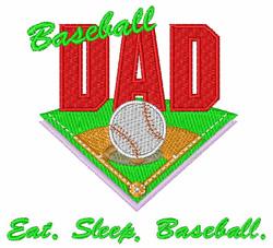 Eat Sleep Baseball embroidery design