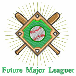 Future Major Leaguer embroidery design