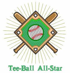 Tee Ball embroidery design