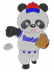 Baseball Panda embroidery design