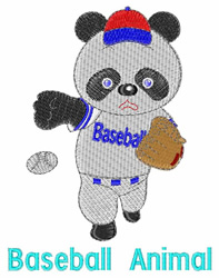 Baseball Animal embroidery design