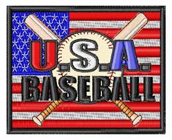 USA Baseball embroidery design