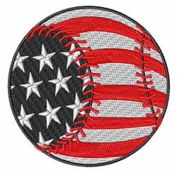 Baseball USA embroidery design