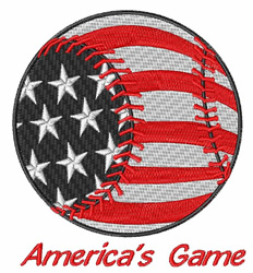 Americas Game embroidery design