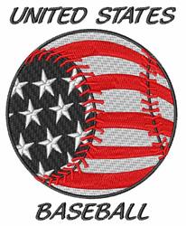 United States Baseball embroidery design