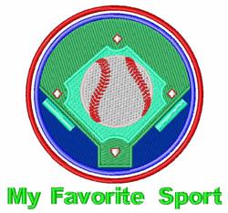 Favorite Sport embroidery design
