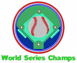 World Series Champs embroidery design