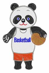 Basketball Panda embroidery design