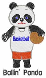 Ballin Panda embroidery design