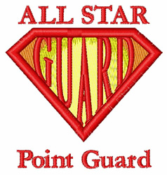 Point Guard embroidery design