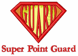 Super Point Guard embroidery design