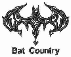 Bat Country embroidery design