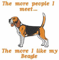 My Beagle embroidery design