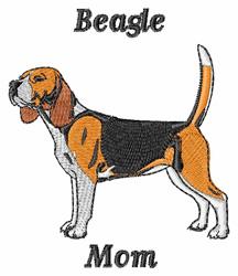 Beagle Mom embroidery design