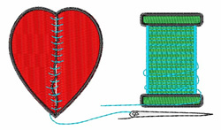 Broken Heart embroidery design