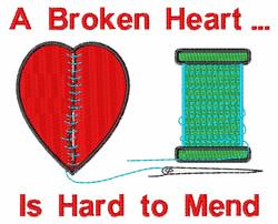 A Broken Heart embroidery design
