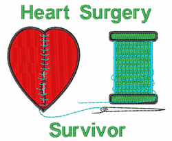 Heart Surgery Survivor embroidery design