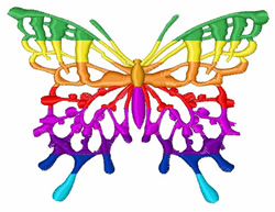 Butterfly Colors embroidery design