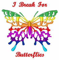 Break For Butterflies embroidery design