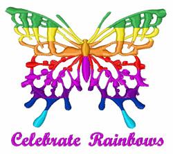 Celebrate Rainbows embroidery design