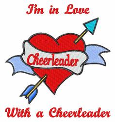 Cheerleader Love embroidery design