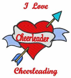I Love Cheerleading embroidery design