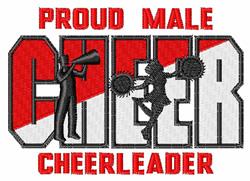 Male Cheerleader embroidery design