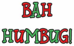 Bah Humbug! embroidery design
