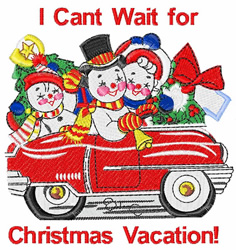 Christmas Vacation embroidery design